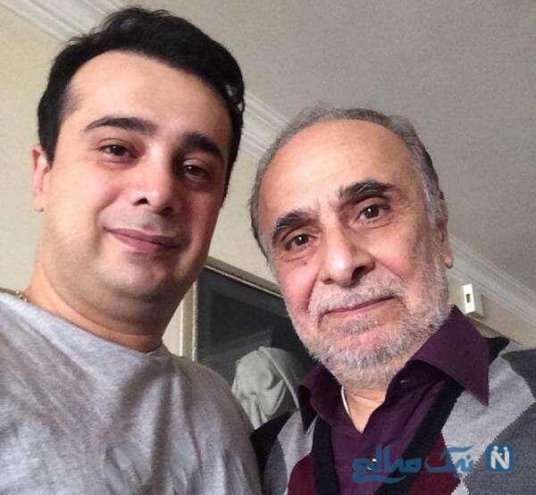 تصویری از سپند امیر سلیمانی در کنار پدرش
