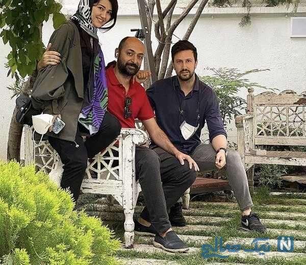 بازیگر معروف کنار خواهر و شوهر خواهرش