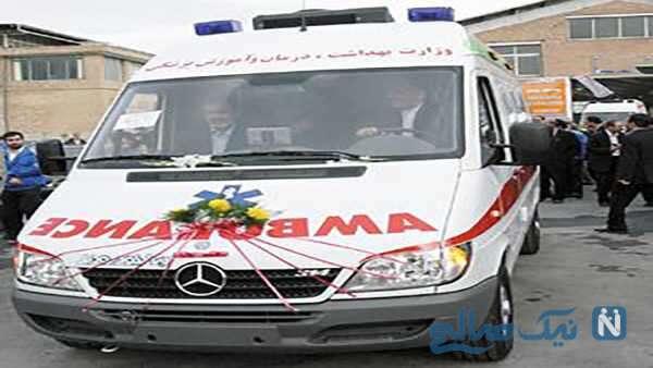 عقد زوج جوان شیرازی در آمبولانس