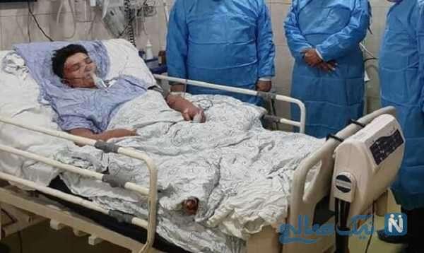 علی لندی در بیمارستان