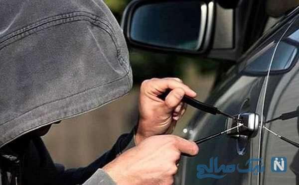 سرقت ماهرانه یک خانم از ۲۰۶ در پارکینگ یک ساختمان در روز روشن !