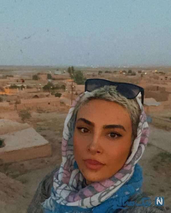 بازیگر معروف ایرانی در کویر