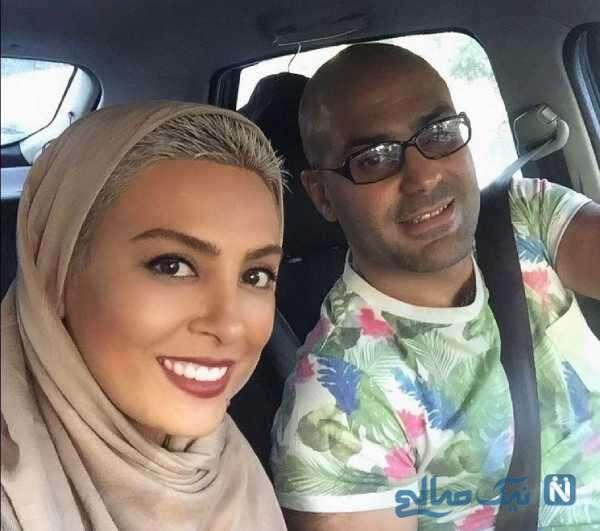 عکس حدیثه تهرانی با شوهرش کیان مقدم