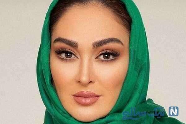 الهام حمیدی با چهره ای جدید و متفاوت در کنار همسرش