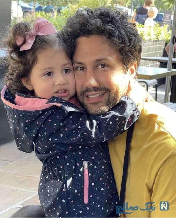 چهره جدید شاهرخ استخری کنار دخترش