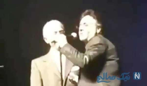 تصویری از حضور پروفسور سمیعی در کنسرت معین