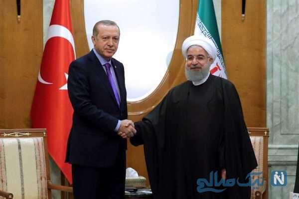 روحانی در کنار اردوغان