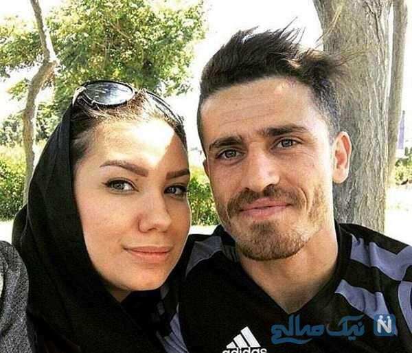 سلفی وریا غفوری با همسرش