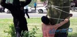 شلاق زدن یک نوجوان در ملاء عام توسط عناصر طالبان در افغانستان