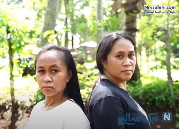 دختر فیلیپینی و مادرش