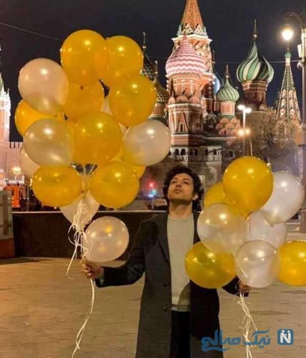 جشن تولد اشکان خطیبی بازیگر