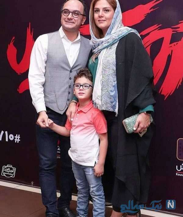 همسر و پسر آقای مجری
