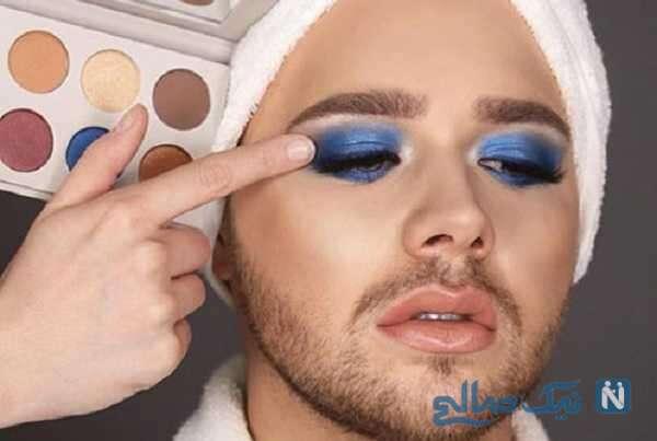 دستگیری پسری جوان و شیاد با آرایش غلیظ زنانه در آرایشگاه های چابهار