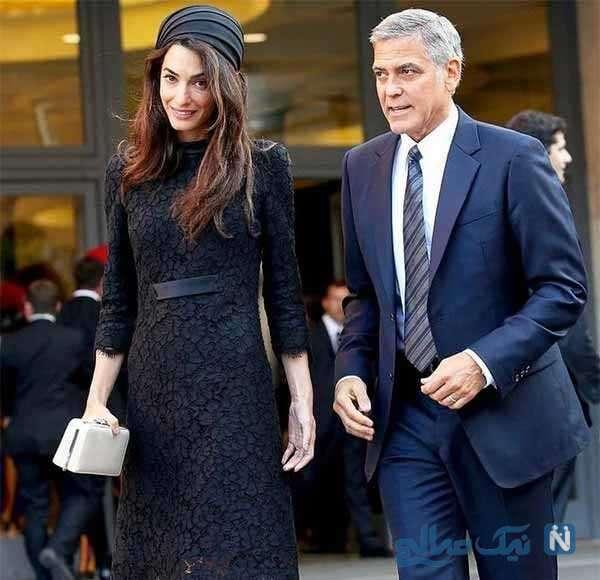بازیگر آمریکایی و همسرش با ست جالب لباس شان