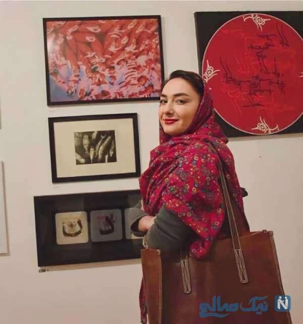 بازدید هانیه توسلی از نمایشگاه