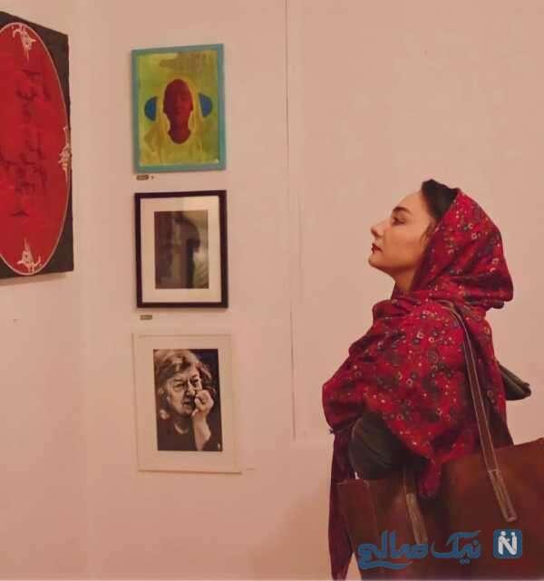 تصویری از هانیه توسلی در نمایشگاه عکس