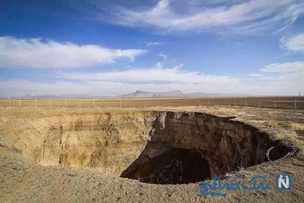 گزارش تکان دهنده از فروچاله ها و شکاف ۷۲ کیلومتری در کاشان