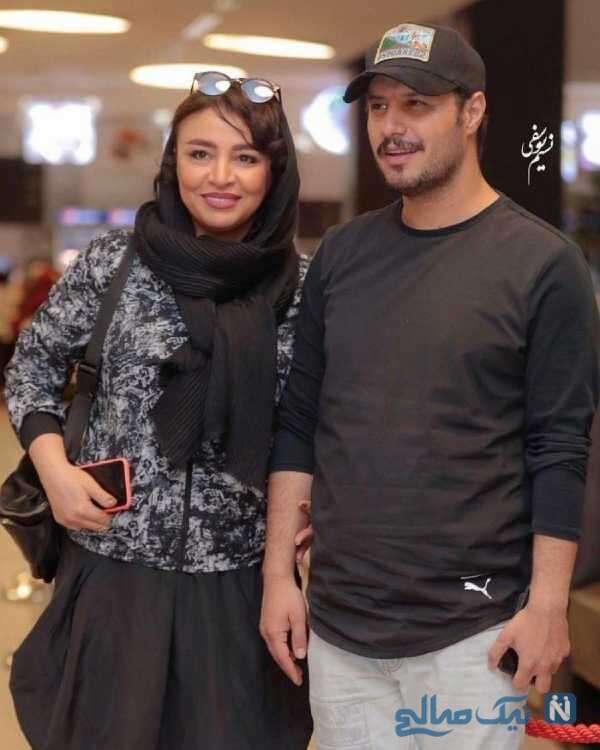 عکس از جواد عزتی همسرش مه لقا باقری