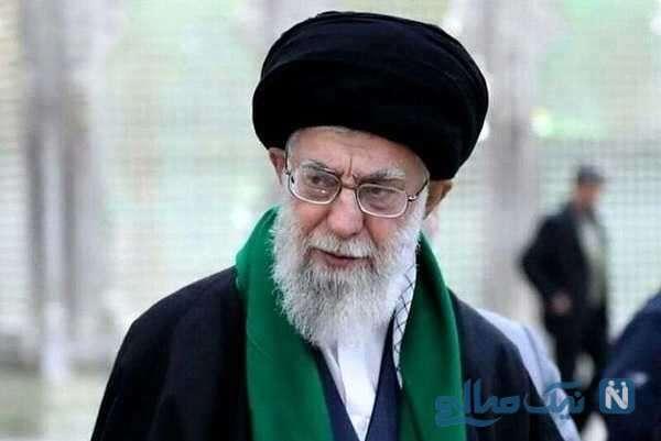 عزاداری رهبر انقلاب در روز شهادت امام رضا در حسینیه امام خمینی