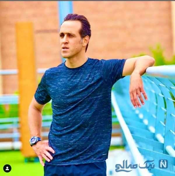 علی کریمی بازیکن سابق فوتبال