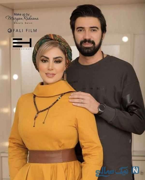 نیلوفر شهیدی و همسرش