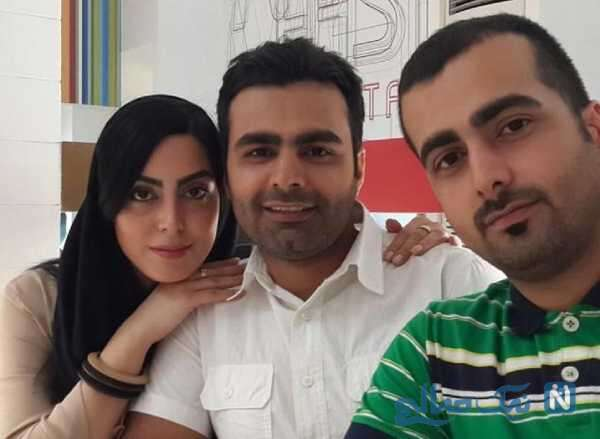 نیلوفر شهیدی بازیگر سینما و برادرانش