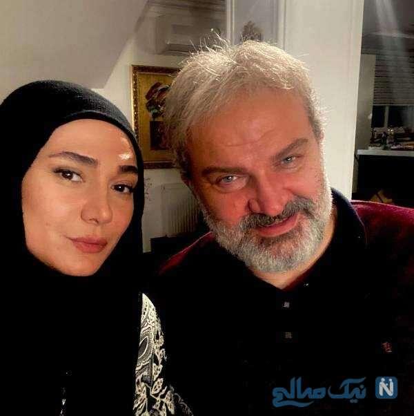 مهدی سلطانی و خانم بازیگر