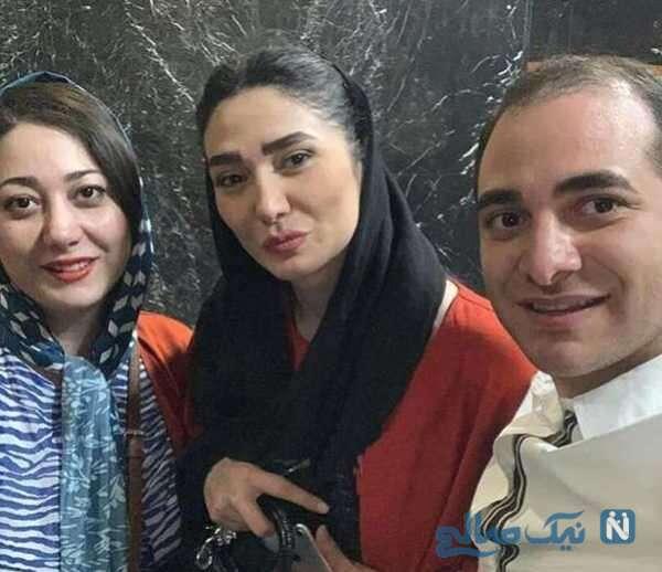 عکس از مینا وحید کنار خواهر و برادرش
