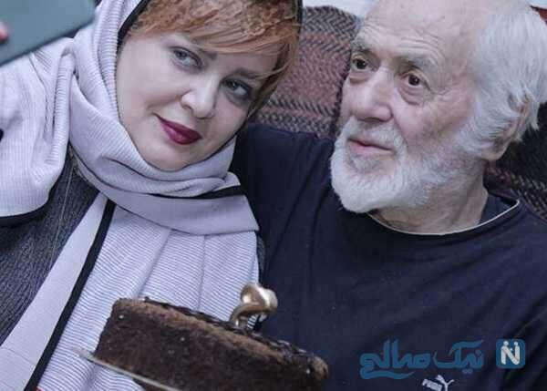 عکس بازیگر زن بهاره رهنما و پدرش