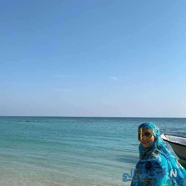 مژده لواسانی در ساحل جنوب