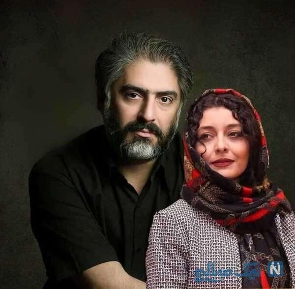 ساره بیات با همسرش علیرضا افکاری