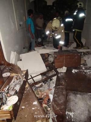 انفجار خانهای بر اثر نشت گاز در ونک تهران  تصاویر