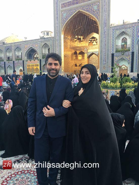 اولین سفر دو نفره ژیلا صادقی مجری مشهور تلویزیون با همسرش بعد از عروسی + تصاویر