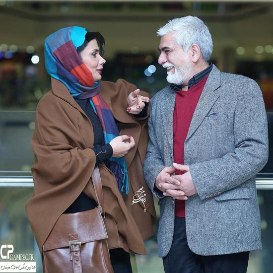 عاطفه رضوی و همسرش و دیگر بازیگران در اکران مردمی فیلم شیفت شب + تصاویر