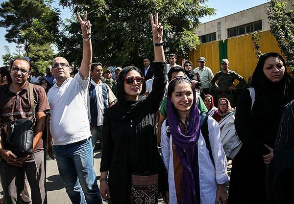 بارانکوثری به استقبال روحانی رفت+عکس