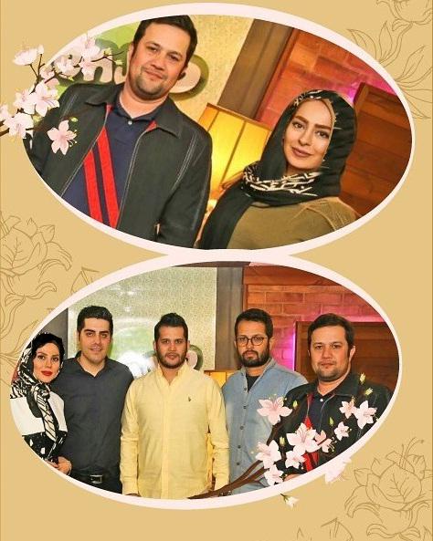 سحر قریشی و سمانه پاکدل به همراه سایر بازیگران در افتتاح فست فود سیاوش خیرابی + تصاویر