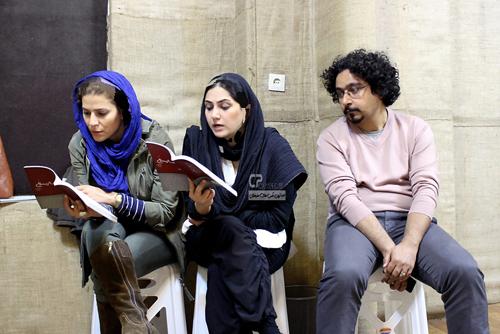عکس های جدید و دیدنی سحر دولتشاهی و باران کوثری در تمرین تئاتر