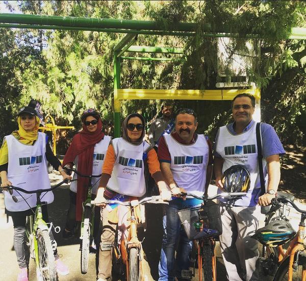 دوچرخه سواری چهره ها و بازیگران مشهور در پارک لاله + تصاویر