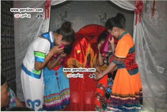 عکس : رسم عجیب گریه کردن عروس در چین