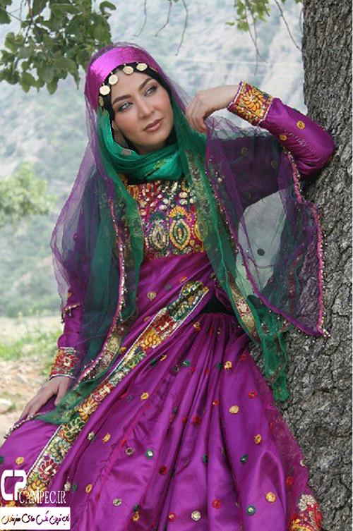 عکس های جدید و بسیار جالب فقیهه سلطانی با لباس محلی در گچساران