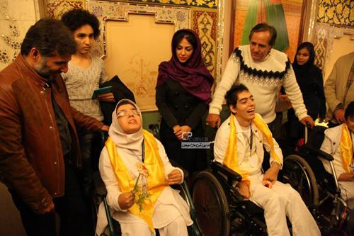 دیدار مجید مظفری ، لیلا اوتادی و سیدجواد هاشمی با کودکان معلول+تصاویر