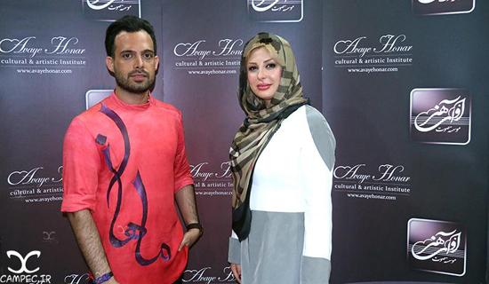 نیوشا ضیغمی و همسرش و سایر بازیگران در کنسرت ماهان بهرام خان + تصاویر