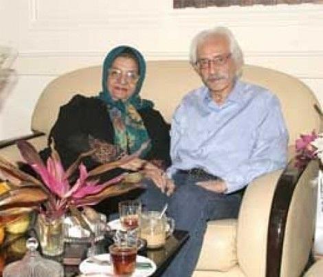 ماجرای عشق آتشین جمشید مشایخی به همسرش + عکس همسرش
