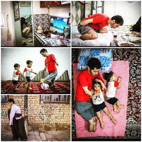 تلاش لیلا بلوکات برای کمک به کارگری که دست و پایش قطع شده است + عکس