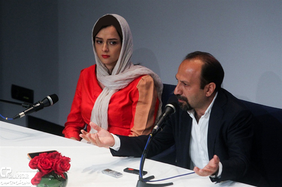 نشست مطبوعاتی فیلم فروشنده با حضور شهاب حسینی و ترانه علیدوستی + تصاویر