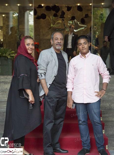 داریوش فرهنگ در کنار پسر و همسرش+عکس