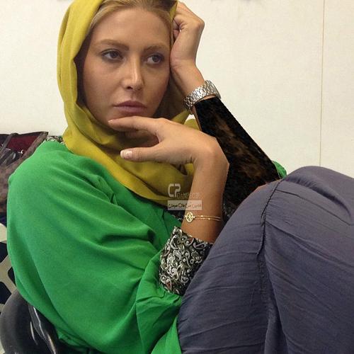 عکس های جدید فریبا نادری در پشت صحنه سریال فاخته