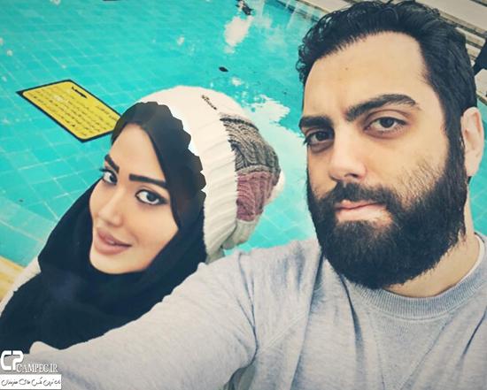 عکس های جدید بهادر زمانی بازیگر سریال تنهایی لیلا با همسرش + بیوگرافی