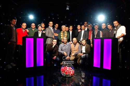 عکسهای بازیگران در پشت صحنه برنامه نوروزی «رادیو هفت»