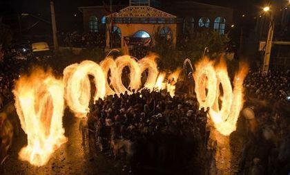 مراسم پولکه گردانی در روستای شیشوان شهرستان عجب شیر!+تصاویر